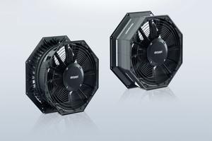 """<div class=""""bildtitel"""">Bild 5: Die """"AxiCool""""-Ventilatoren sind ab Baugröße 500 in zwei Versionen erhältlich: als Standardversion, inkl. Nachleitrad und Montageführung für das Heizband (links) und in der High-End-Version zusätzlich mit der Wandringverkleidung für weniger Wärmeeintrag ins Kühlhaus (rechts). </div>"""