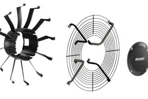 """<div class=""""bildtitel"""">Bild 3: Das Nachleitrad sorgt für eine Minimierung der Strömungsturbulenzen für maximale Effizienz und minimales Geräusch und ist vor dem Schutzgitter platziert.</div>"""