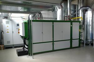 """<div class=""""bildtitel"""">BHKW """"agenitor 306"""" der Firma 2G mit einer thermischen Leistung von 290 kW und einer elektrischen Leistung von 250 kW</div>"""