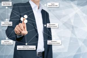 """<div class=""""bildtitel"""">Starten in das Handwerk 4.0 – eine kaufmännische Branchensoftware digitalisiert die Geschäftsprozesse. </div>"""