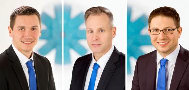 Dominic Albrech, Stefan Fischer und Peter Hermann