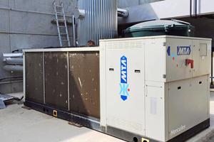 Aufgrund der Effizienz des Wärmeträgers reicht dieses Kälteaggregat allein aus, um die Gärprozesse zu kühlen.