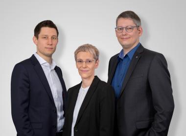 Marco Baumann, Andrea Holzbaur, Michael Freiherr (v.l.n.r.)