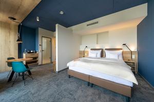 Blick in ein Hotelzimmer