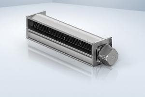 """<div class=""""bildtitel"""">Bild 4: Ein interessanter Ansatz für Kühlmöbelanwendungen sind zudem Querstromventilatoren, die ebenfalls mit EC-Motoren arbeiten und eine große Luftverteilfläche bieten. </div>"""