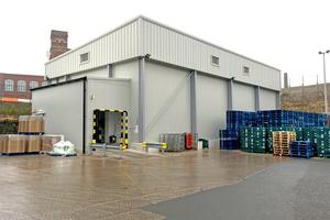 """<div class=""""bildtitel"""">Das neue Kühllager von Park Cakes in Oldham/Großbritannien</div>"""