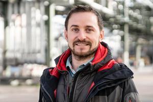 """<div class=""""bildtitel"""">Daniel Albert ist bei BASF als Kälteingenieur in der Bauplanung mitverantwortlich für kälte- und klimatechnische Anwendungen.</div>"""