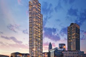 """<div class=""""bildtitel"""">Gleich neben dem Einkaufszentrum Skyline Plaza wird in Kürze der mehrfach preiskrönte Grand Tower stehen.</div>"""