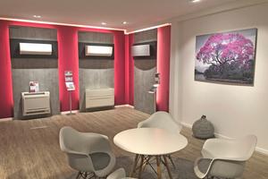 """<div class=""""bildtitel"""">In den Showrooms in Herten, Dortmund und Münster (im Bild) können Kunden Klimaanlagen live erleben. </div>"""