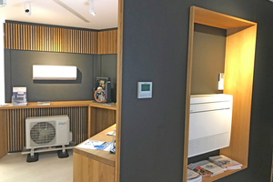 """<div class=""""bildtitel"""">Im Showroom werden Klimageräte in Funktion gezeigt. </div>"""