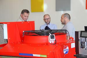 """<div class=""""bildtitel"""">Auf der Innovation Plaza konnten die Teilnehmer die Produktvielfalt von Güntner hautnah erleben. </div>"""