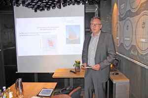 """<div class=""""bildtitel"""">Claus Händel, Technischer Referent des FGK, stellte die Kampagne """"Mindestfeuchte 40 %"""" vor.</div>"""