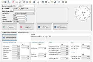 """<div class=""""bildtitel"""">Mitarbeiter im Büro können direkt über die stationäre Zeiterfassung stempeln. Planer und Kalkulatoren buchen ihre Arbeitszeiten beispielsweise automatisch auf die entsprechenden Projekte. Kostenträgerauswertungen in der Betriebsbuchhaltung repräsentieren dadurch die tatsächlichen Aufwendungen für ein Projekt. </div>"""