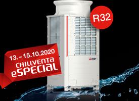 Vorteil Hybrid VRF-Technologie: Kühlen oder Heizen mit minimierter Kältemittelfüllmenge