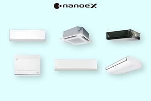 """<div class=""""bildtitel"""">Verschiedene Klimasysteme von Panasonic lassen sich mit der """"nanoe X""""-Technik austatten.</div>"""