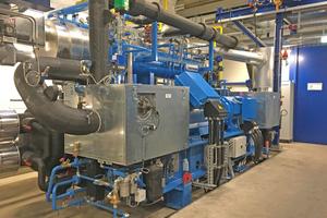 """<div class=""""bildtitel"""">Die Wärmepumpe im Stahl- und Walzwerk Marienhütte in Graz nutzt Prozessabwärme für Fernwärmezwecke.</div>"""