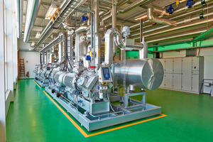 """<div class=""""bildtitel"""">Wärmepumpenanlage in der Energiezentrale von Bjerringbro in Dänemark</div>"""
