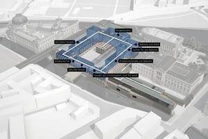 """<div class=""""bildtitel"""">Nach der vollständigen Fertigstellung ist für die Besucher ein kompletter Rundgang durch das Pergamonmuseum möglich. </div>"""