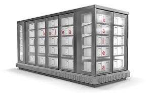"""<div class=""""bildtitel"""">Die Daikin-Tochter AHT Cooling Systems GmbH bietet Multideck-Kühlsysteme mit Propan, z.B. """"Kalea"""", an. Diese können als Zeile (entlang einer Wand) oder als Insel (wie abgebildet) aufgestellt werden. </div>"""