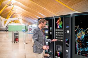 """<div class=""""bildtitel"""">Im Jahr 2019 gab es an Verkaufsautomaten für Lebensmittel und Getränke mehr als 12,6 Mio. einzelne Verkäufe pro Tag. </div>"""