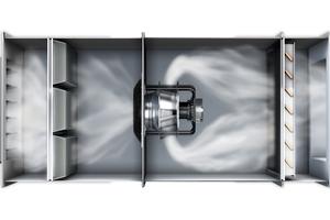 """<div class=""""bildtitel"""">Klappen und Filter können den Luftstrom in RLT-Anlagen behindern und auch der Abstand zu Wänden und Wärmetauschern sowie der Einsatz von Schutzgittern wirken sich aus, daher muss frühzeitig die reale Einbausituation betrachtet werden, um am Ende der Entwicklung ein optimales Ergebnis zu erreichen. </div>"""