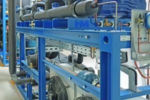 """<div class=""""bildtitel"""">Die HM-Kälteanlage, das heißt die integrierte NK-/TK-Verbund-Anlage im separaten Maschinenraum</div>"""