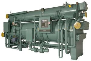 """<div class=""""bildtitel"""">Absorptionskältemaschinen, wie diese von Johnson Controls, sind in der Lage, Kälte aus der Abwärme eines BHKW zu generieren.</div>"""