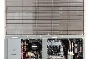 """<div class=""""bildtitel"""">Gaswärmepumpe des Herstellers Yanmar; in Deutschland u.a. vertreten durch die Fa. Schwank</div>"""