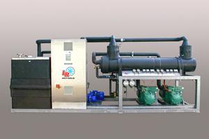 """<div class=""""bildtitel"""">Typische Kälteanlage für die Kühlstrecke in der Schokoladenindustrie</div>"""