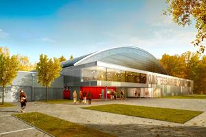 """<div class=""""bildtitel"""">Das regionale Eissportzentrum im Schweizer Mittelland wird als erstes Eissportzentrum der Schweiz nach Minergie-Standard saniert. </div>"""