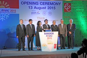 """<div class=""""bildtitel"""">Offizielle Eröffnung der Messe RHVAC in Bangkok</div>"""
