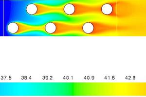 """<div class=""""bildtitel"""">Darstellung der Temperatur bei Berechnung des gesamten Wärmetauschers</div>"""