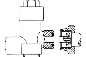 Kleine Flaschen haben ein Ventil mit Dichtring, und der Druckminderer wird <br />mit einer Rändelmutter festgeschraubt [2]<br />