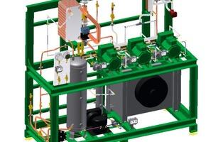 R774-TK-Verbund mit luftgekühltem Enthitzer und Notkühlung für den Einsatz in der Supermarktkühlung<br />