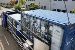 """Zwei """"TT2-320""""-Tiefkältezentralen von acr mit jeweils 300 kW Kälteleistung bei -24 °C Kaltsole"""
