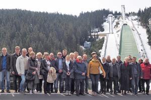 """<div class=""""bildtitel"""">Die beeindruckende Kulisse in Oberhof war Teil des Rahmenprogramms.</div>"""