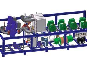 Mit Sole gekühlte R744-Anlage mit Notkühlung für den Einsatz in der produzierenden Industrie<br />
