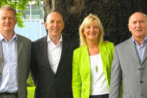 """<div class=""""bildtitel"""">Der Vorstand des Forschungsrats Kältetechnik e.V.: Felix Flohr, Wolfgang Bock, Monika Witt und Roland Handschuh </div>"""