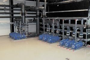 Der Pumpenraum wurde von der Firma IKS ausgeführt. Als Teil des Caloris-Wasserkreislaufs stellen die Pumpen das Komfortklima in der Verwaltung sicher