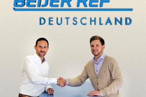 Martin Haug, Geschäftsführer Beijer Ref Deutschland (links), und der zukünftige Außenstellenleiter des Standortes bei Stuttgart, Benedikt Grün
