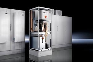 """Der """"TopTherm Chiller"""" ist eine modular aufgebaute Rückkühlanlage, die in einem """"Standard-TS 8""""-Schaltschrank von Rittal aufgebaut ist<br />"""