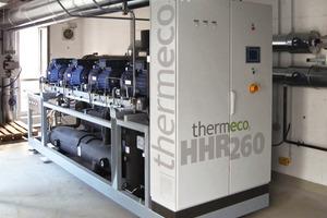 """""""thermeco2 HHR 260""""-Wärmepumpe in der Zentrale<br />"""